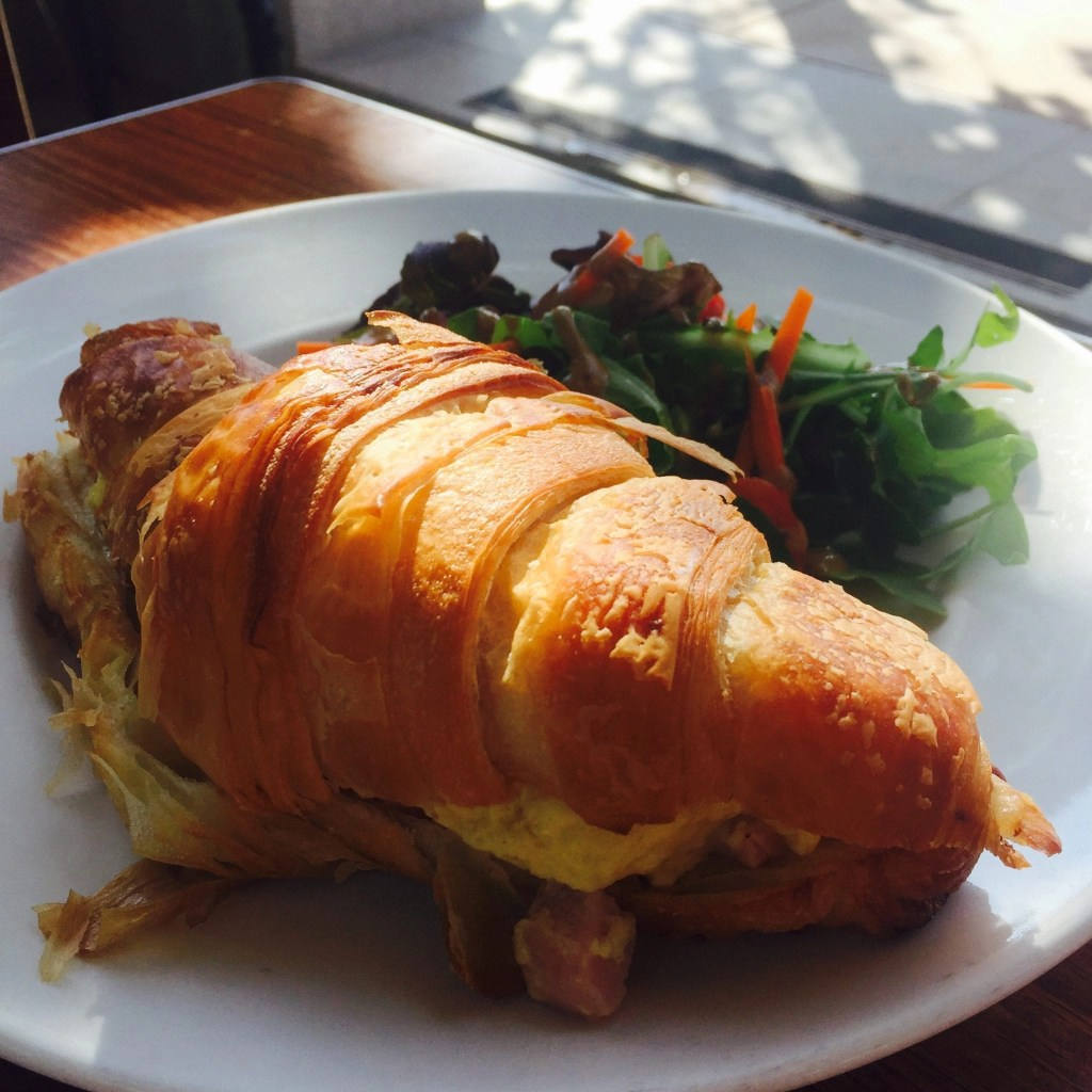 Croissant sandwich from Laurent's Le Coffee Shop in Temecula | Global Munchkins