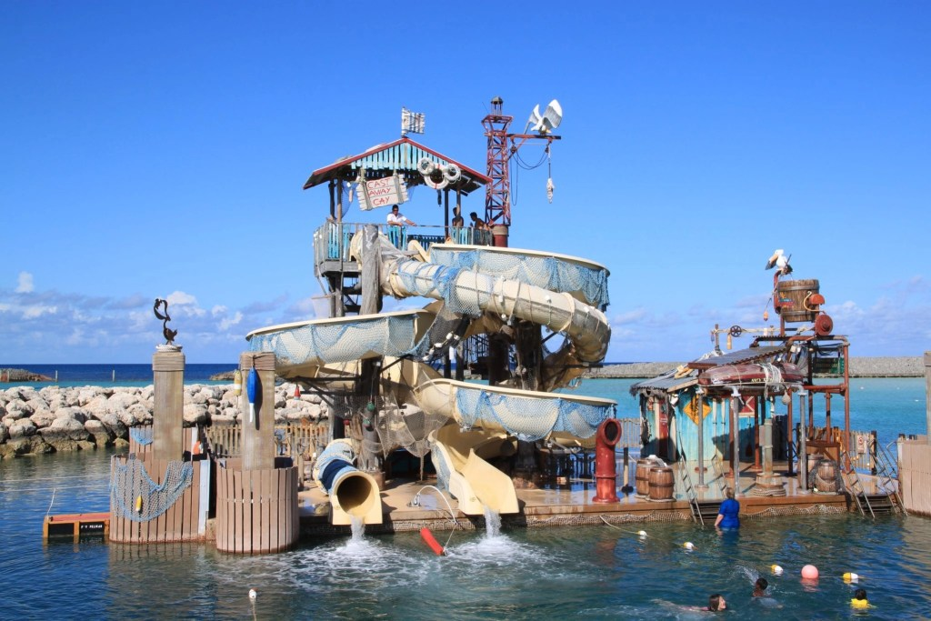 Water Slides at Castaway Cay. Disney Cruise Line has a private island called Castaway Cay | Global Munchkins