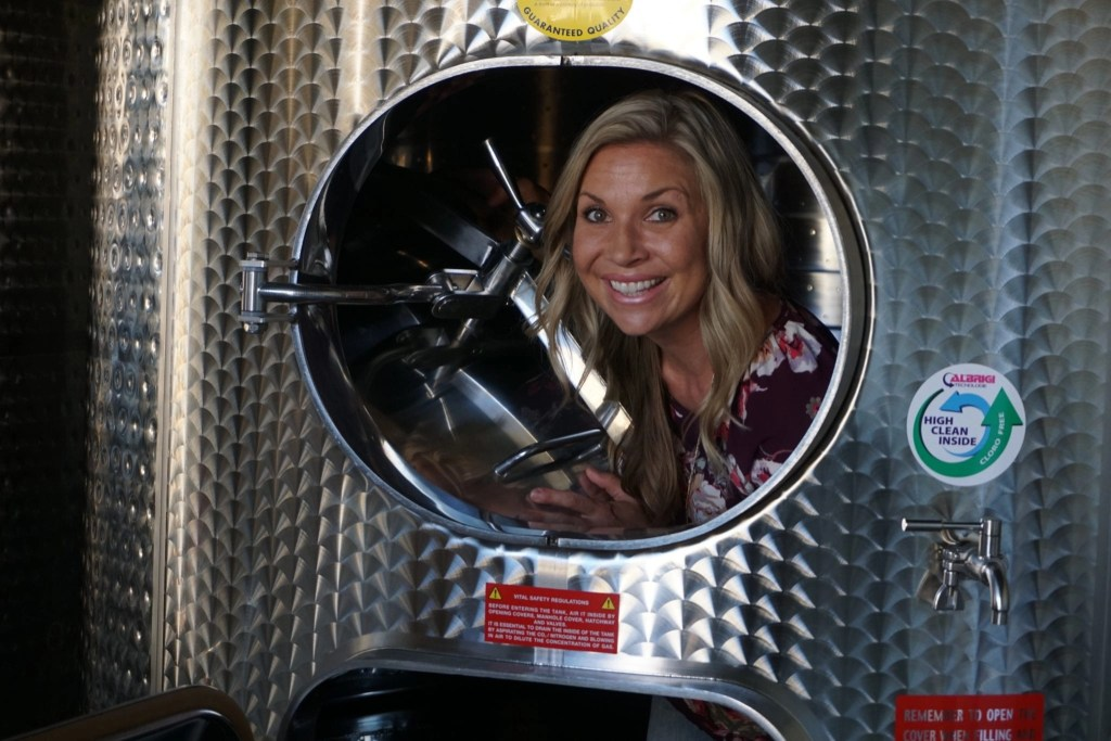 Gorgeous Stainless Steel Winery Tanks at the new Peltzer Winery and Farm in Temecula CA | Global Munchkins