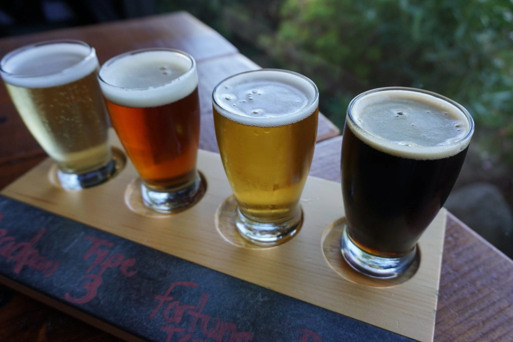 Gorgeous flight of Beer from Wiens Brewing Co. in Temecula | Global Munchkins