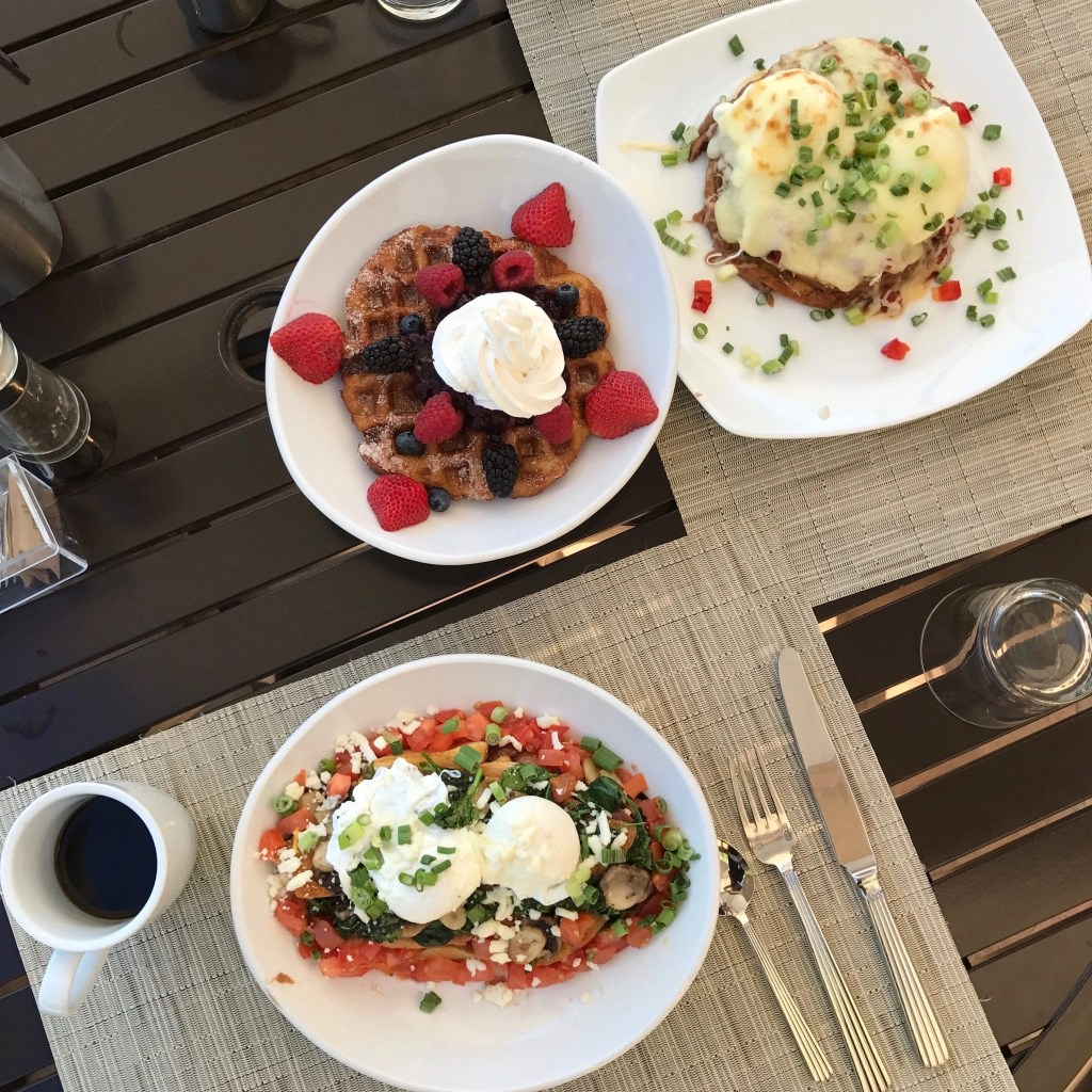 Delicious breakfast at the Sundance- an onsite restaurant at Hilton El Conquistador Resort. Great Tucson hotel
