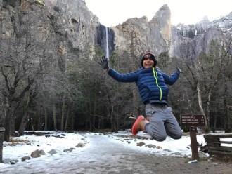 Bridalvail Falls at Yosemite National Park. Such a beautiful winter destination