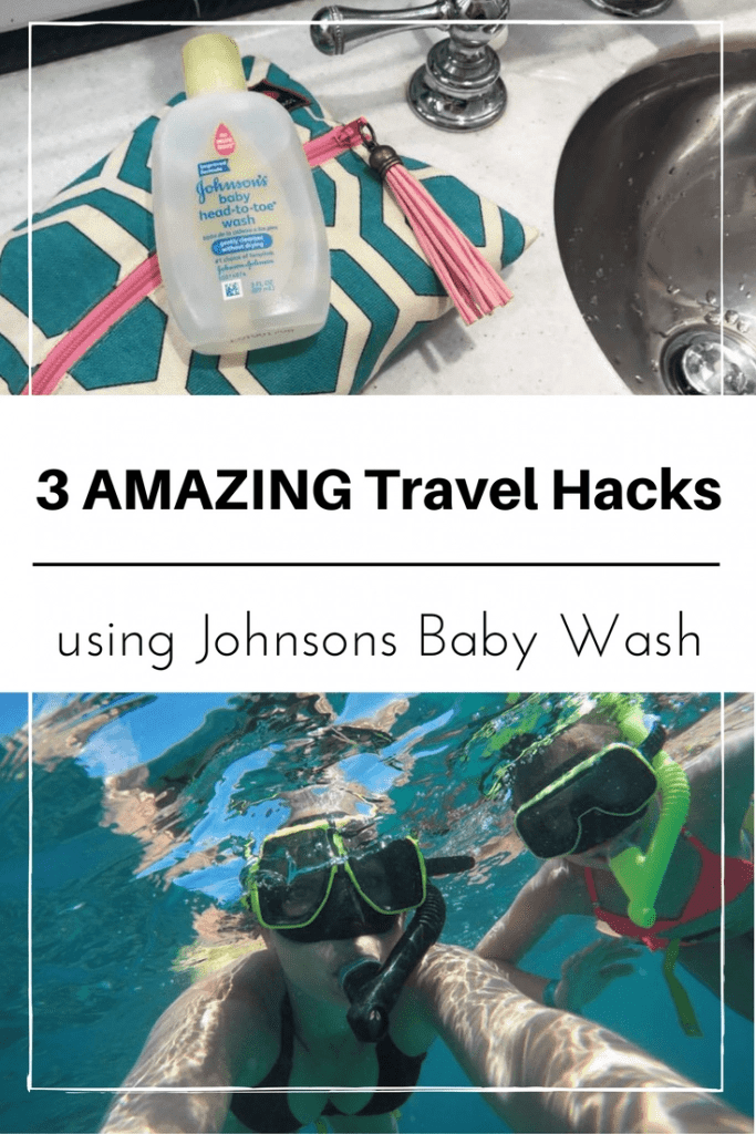 The one product you will always find in my carry on bag. Find out the 3 travel hacks that Johnsons Baby Wash solves and discover why travelers love this versatile product.