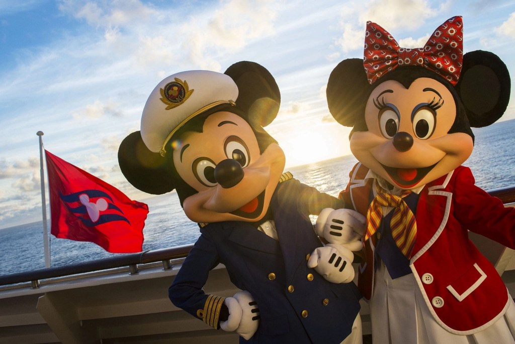 The Disney Magic crew wouldn't be complete without Captain Mickey and First Mate Minnie, who greet guests onboard the ship. Special visits from favorite Disney characters are guaranteed to delight the entire family every day on the Disney Magic. (Matt Stroshane, photographer)