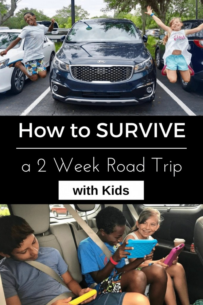 How to SURVIVE a Two Week Road Trip WITH KIDS- everything you need to know from choosing the right vehicle to what to pack and more.