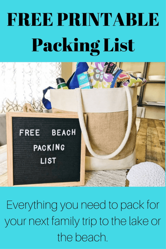 AD FREE Printable Beach Vacation Packing List, also works great for your next trip to the lake. Make sure to double check this list when packing for your next family beach or lake vacation. #packinglist #beachvacation