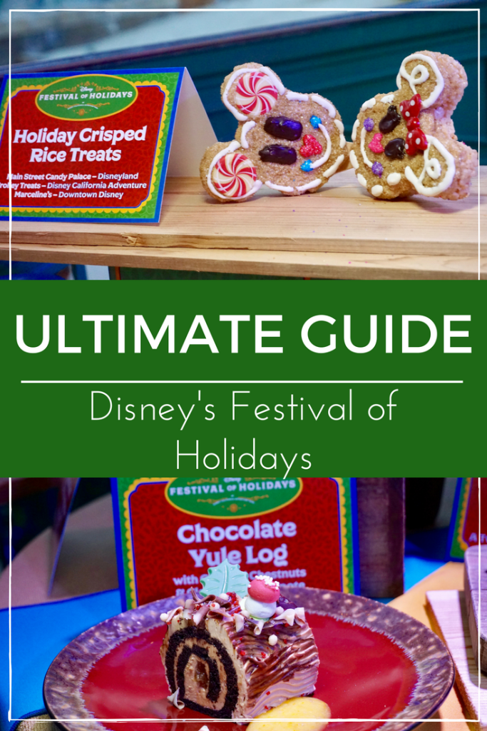 Check out everything you need to know about Disney's Festival of Holidays happening at the California Adventure Park through the holiday season. Full Marketplace Menu included. See post for details.