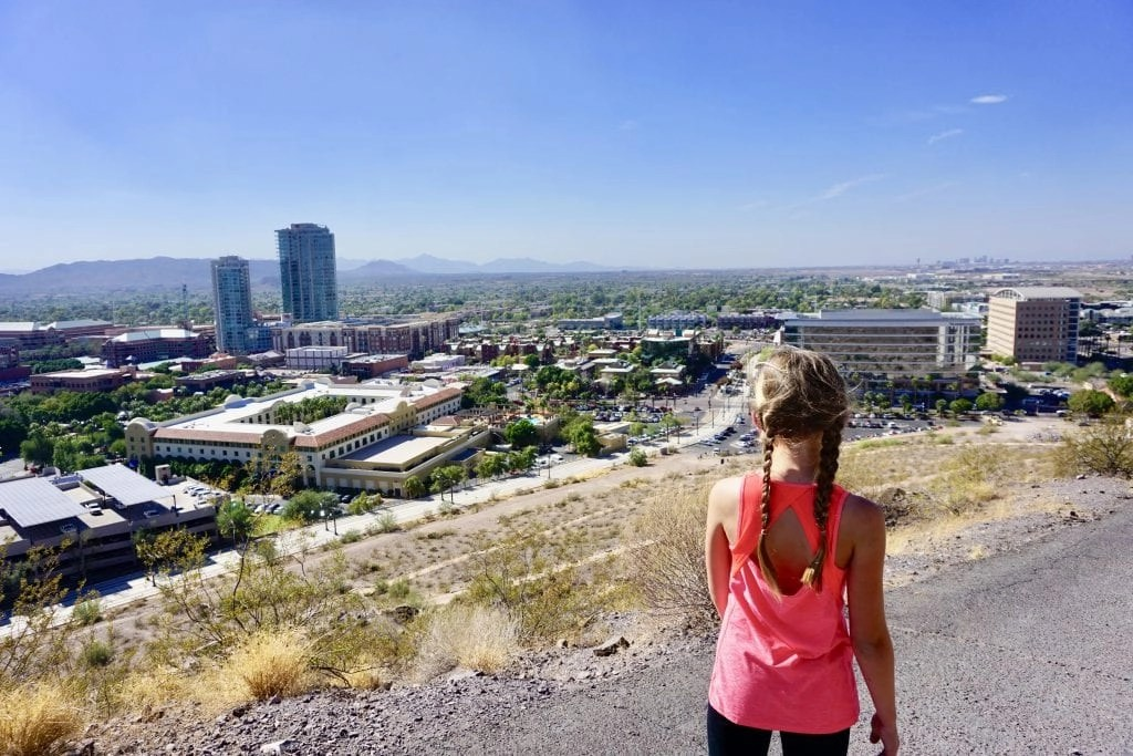 Hike A Mountain in Tempe with kids