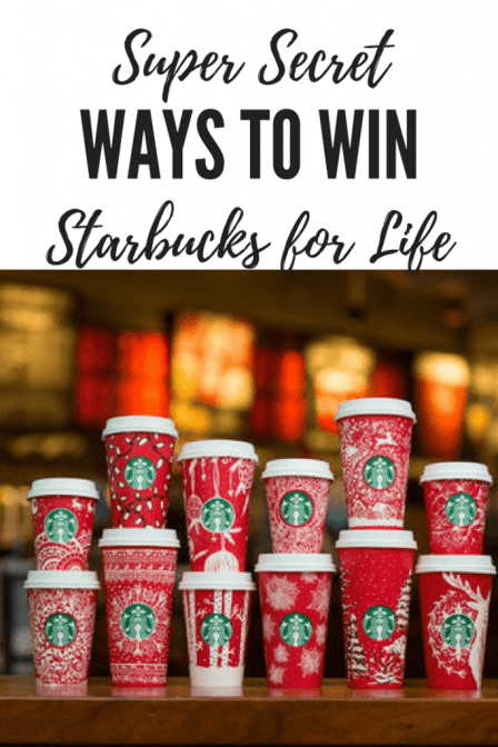 super secret way to win starbucks for life