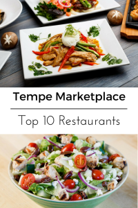 AD Top 10 Tempe Marketplace Restaurants. Check out which restaurants we recommend by clicking through to the post. #Tempe #TempeRestaurants #HowWeTempe