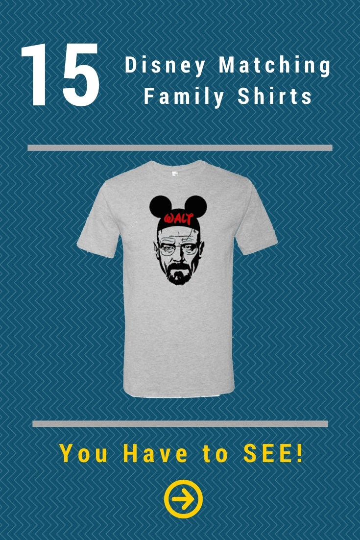 15 Disney Matching Family Shirts that are so fun. You Have to See! #disneyfamily #disney