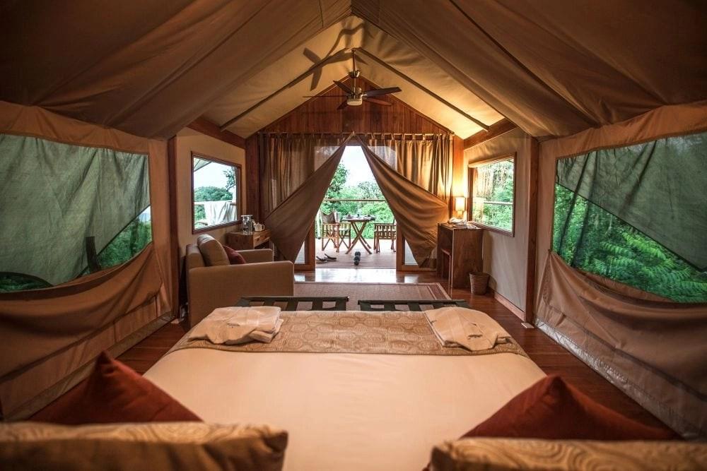Luxury Resorts for Families- Galapagos Safari Camp luxury tent
