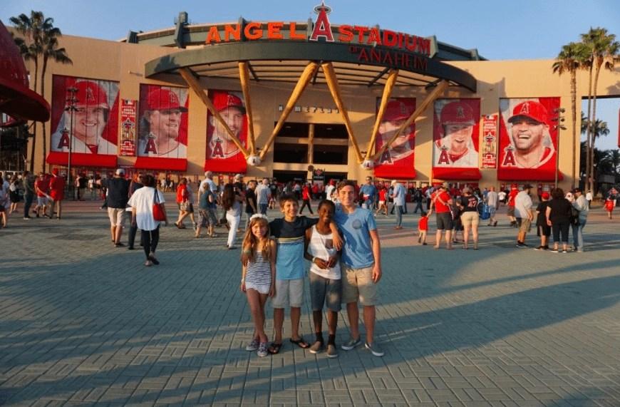 Angels Stadium located in Anaheim CA. Baseball in California   Global Munchkins