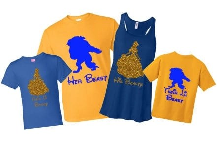 Disney Family T-Shirts - Beauty & the Beast