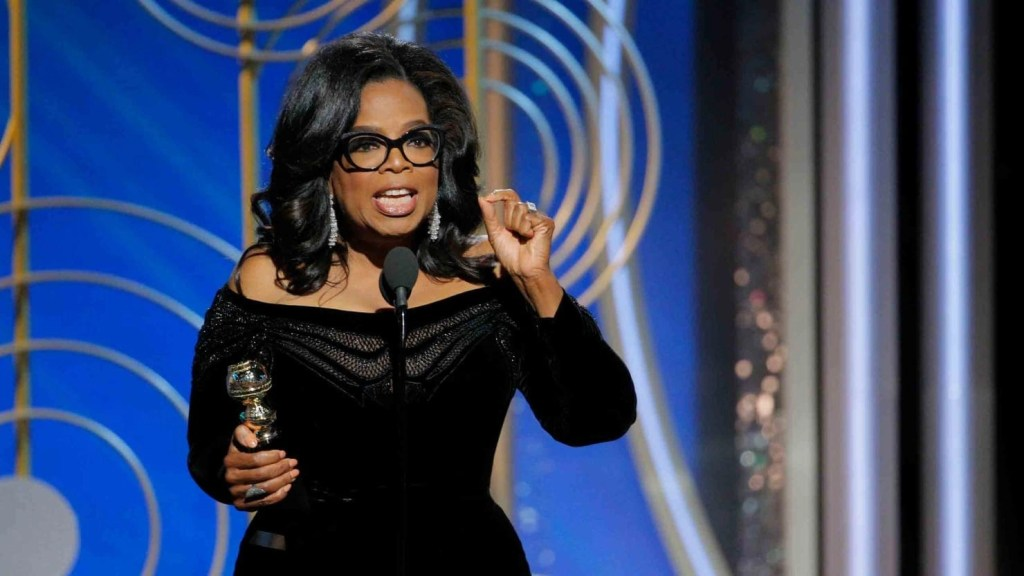 Oprah Winfrey at the Golden Globes 2017. Source: PAUL DRINKWATER/GETTY Inspirational Oprah quotes.