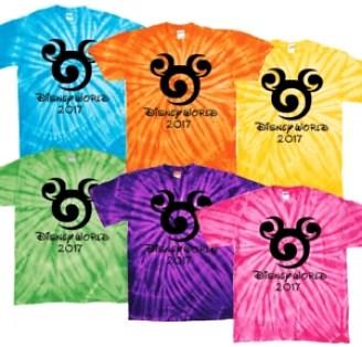 disney t-shirt tye dye