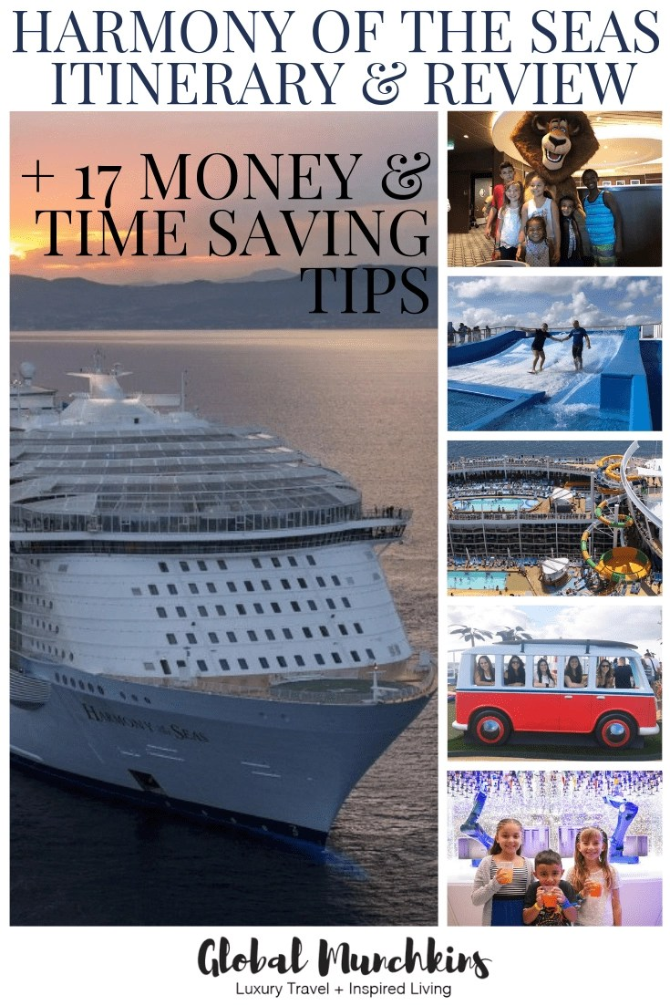 Cruises are not cheap, however, they do make EXCELLENT family vacations. Looking for some Harmony of the Seas itinerary and how do you afford them? Here are some ways to score a deal on your next Royal Caribbean Cruise. #cruise #cruisetips #harmonyoftheseas #moneysavingtips #timesavingtips #travel #traveltips #itinerary