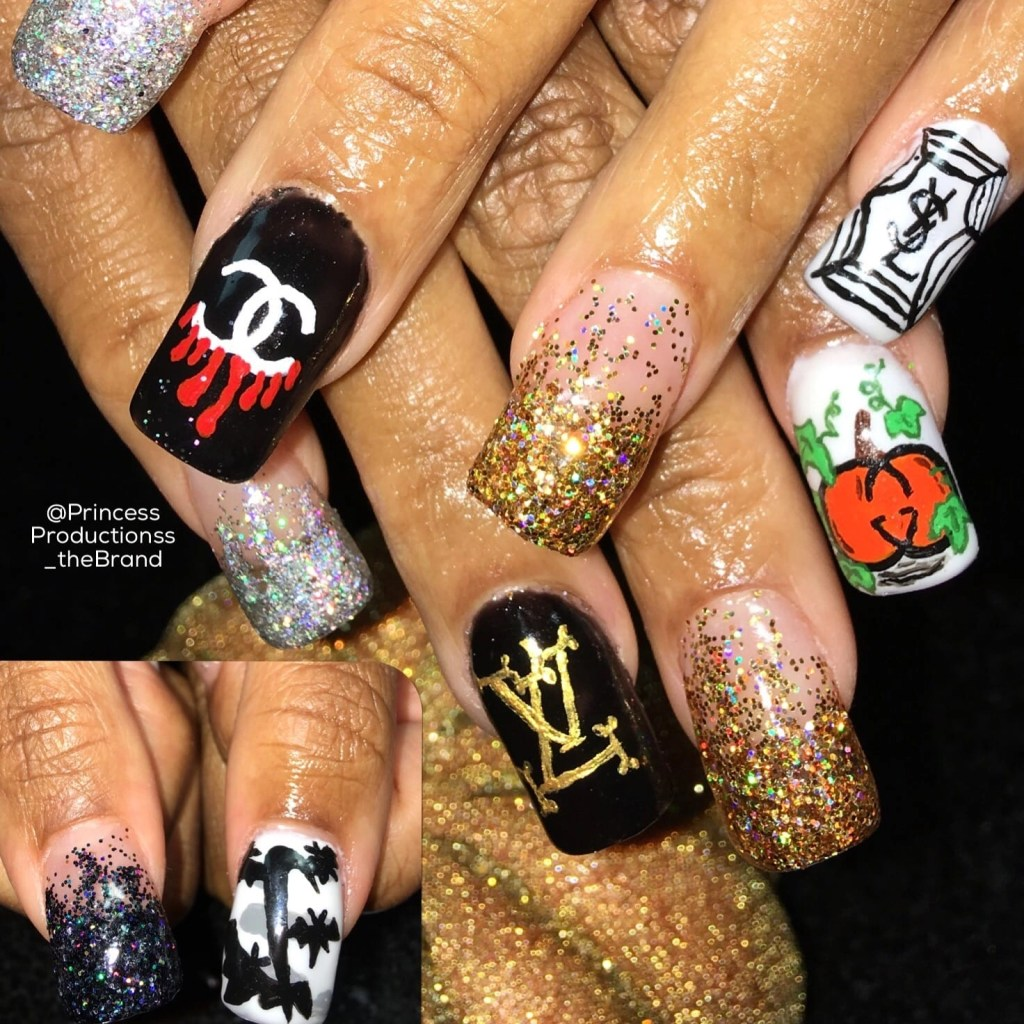 The BEST Nail Salon in Temecula- custom nail art. Check out these gorgeous one of a kind nails created by Temecula Nail tech Kneiya.
