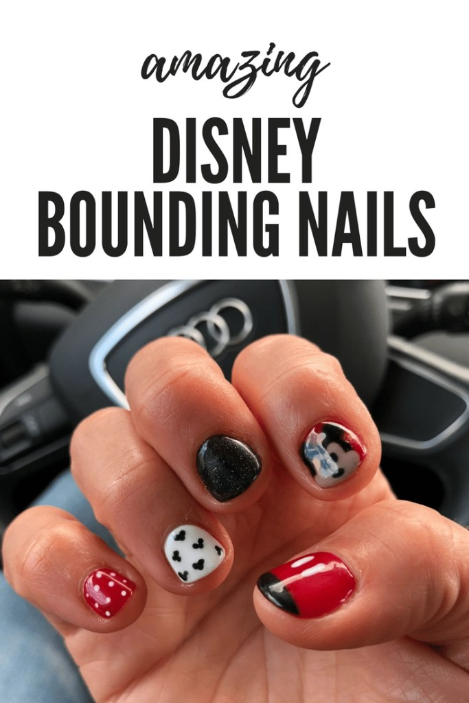 Amazing Disney Nails! These nails would be perfect for Disney Bounding or just a fun trip to your favorite place. #DisneyNails #DisneyNailArt #DisneyNailDesigns #DisneyNailAcrylic #DisneyNailsEasy