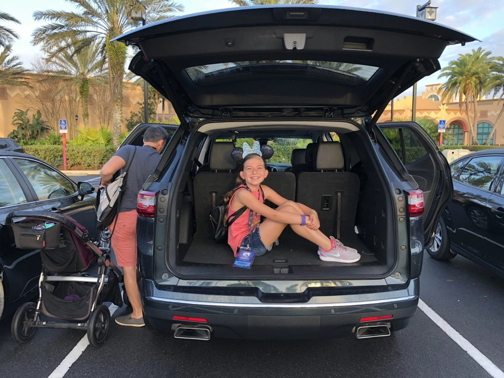 Tips for parking at Disney World. Featuring our experience with the NEW Chevy Traverse.
