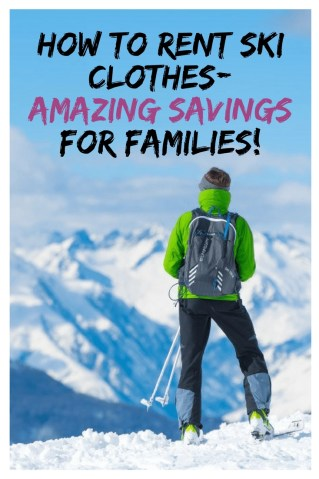 How to Save Money by renting Ski Clothes