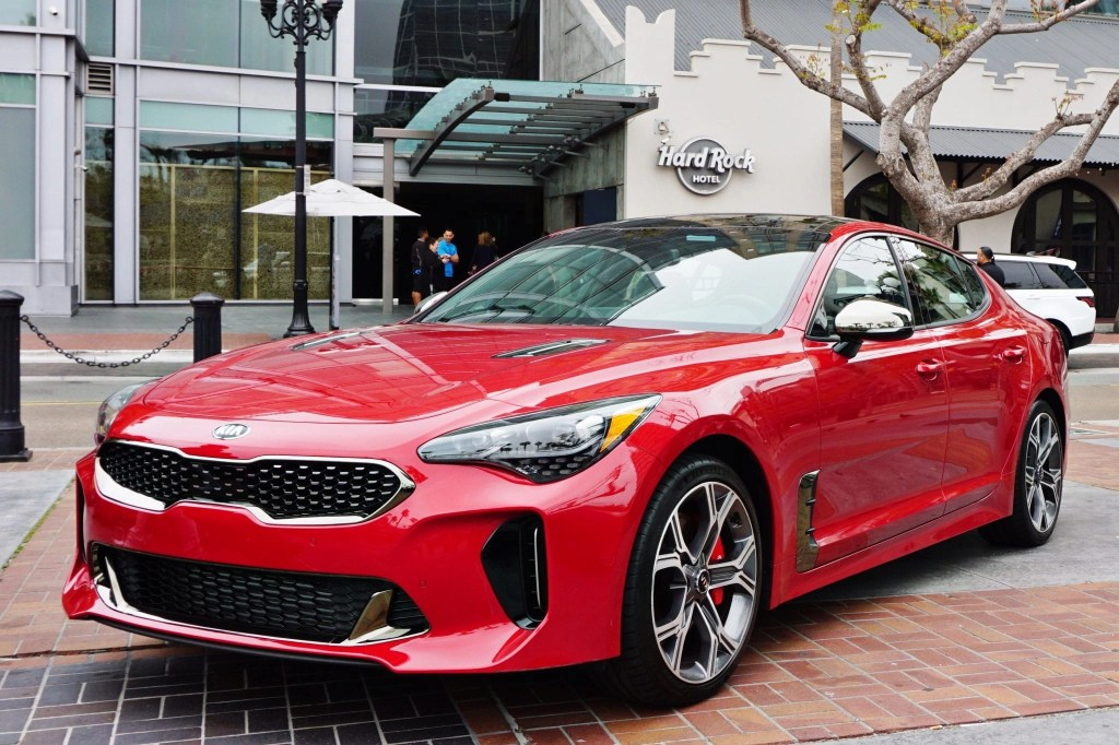 A gorgeous cherry red 2018 Kia Stinger