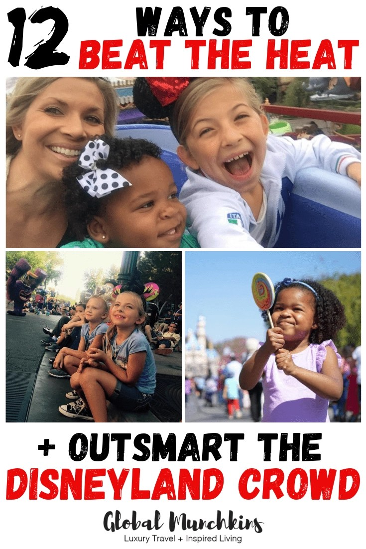 Check out these some helpful ways to beat the heat and outsmart the Disneyland crowd! #helpfultips #disneyland #traveltips #travel #vacation #familyvacation