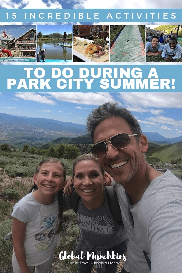 We absolutely love Utah and have come to learn over the years that it's one of the best places for a little family getaway. A new love of ours is Park City. It is a good mix of both nature activities and downtown activities. Check out these 15 incredible activities to do during a Park City Summer! #utahtravel #traveldestinations #traveltips #summer #parkcity #getaway #adventure #wanderlust
