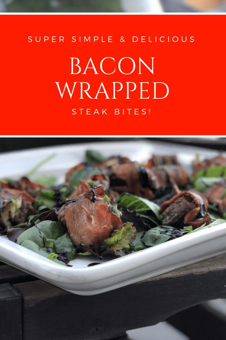 AD- Delicious @OmahaSteaks Bacon-Wrapped Tenderloin Tips. These delicious bacon-wrapped steak bites are the perfect go-to easy to make appetizer for all of your party needs.