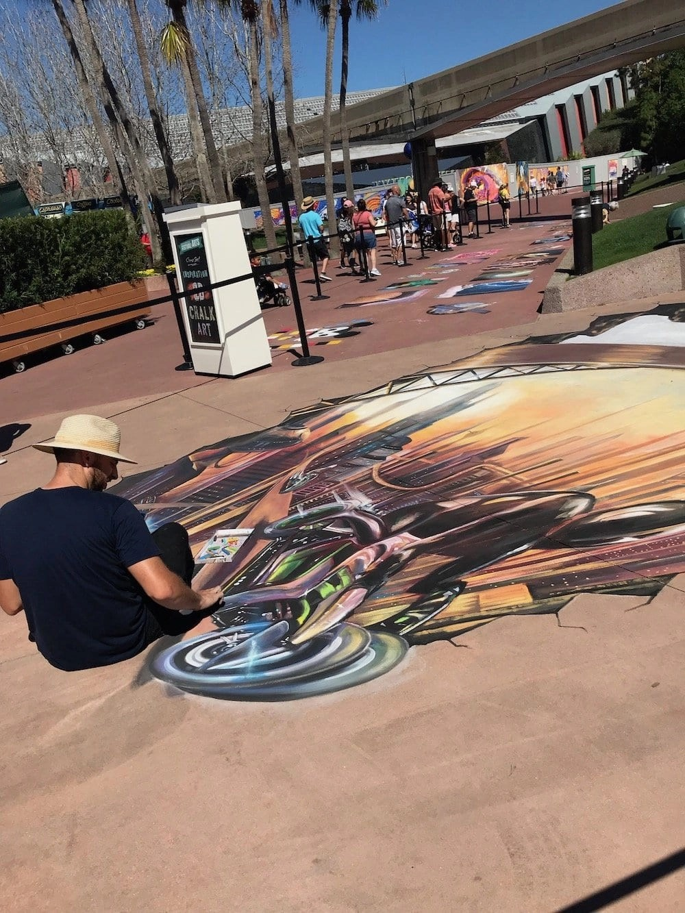 Epcot Festival of the Arts Chalk Painting