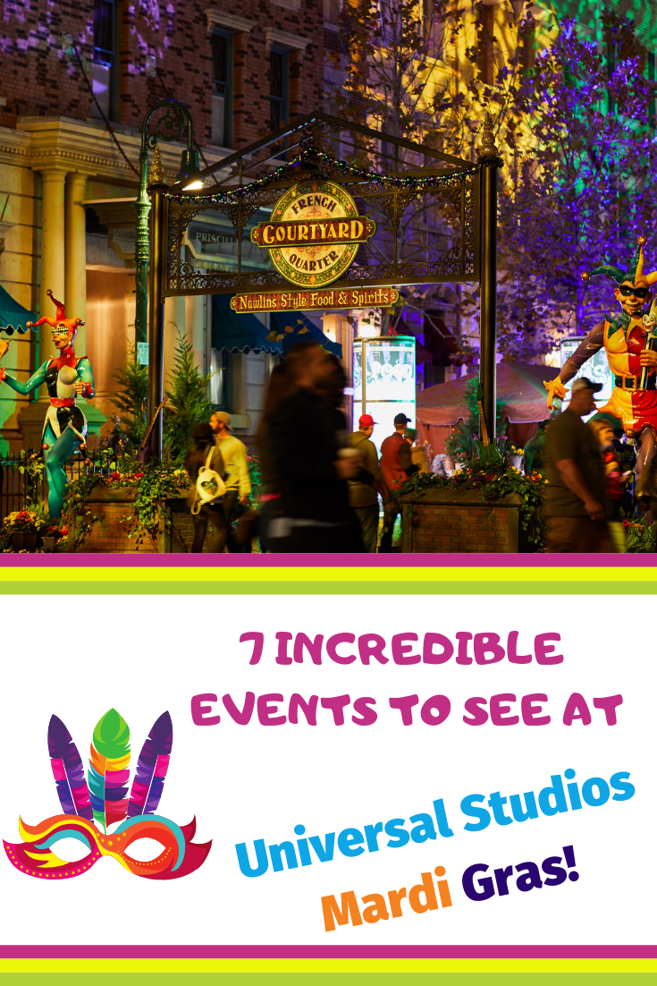 7 Reasons You'll Love Universal Studios Mardi Gras 2019! Universal Studios Orlando during Mardi Gras is absolutely incredible. Here are 7 reasons why you need to check out this super fun event! #universalorlando #mardigras #universalstudios