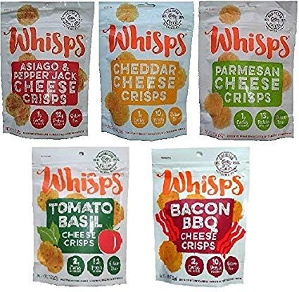 Whisps cheese crisps are a great low carb snack