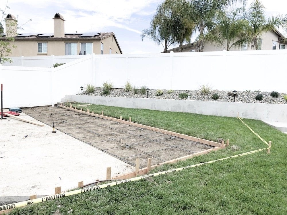 Backyard Court Installation Process