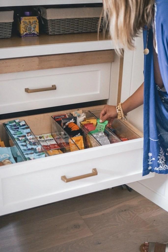 Kitchen organization, white kitchen, custom kitchen, custom cabinetry, pantry organization
