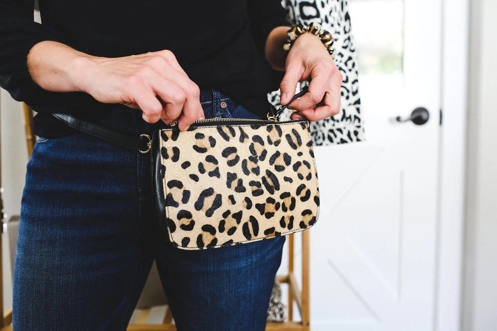 Animal print fanny pack from Chico's