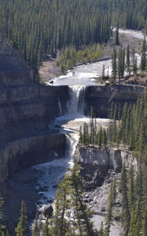 A file photo of Crescent Falls, a provincial recreation area west of Nordegg in the Alberta foothills.