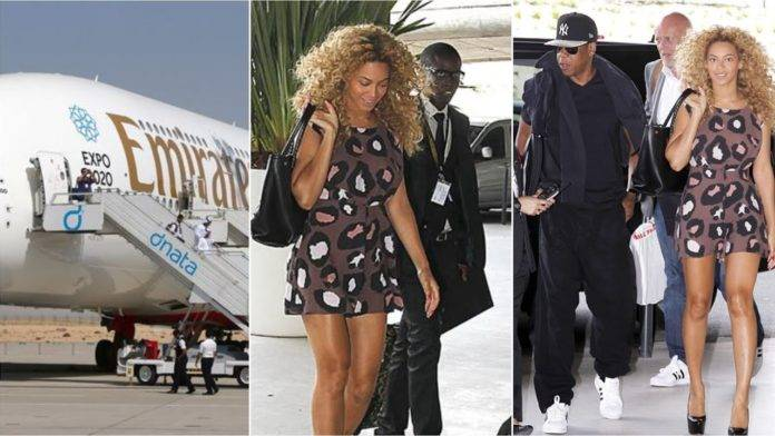 Beyoncé, Jay-Z, and Daughter Ivy Blue Arrive in Ghana