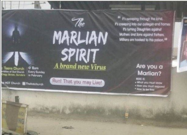Nigerians reacts as a Church holds deliverance service with a theme - Marlian Spirit a brand new virus (Photos)