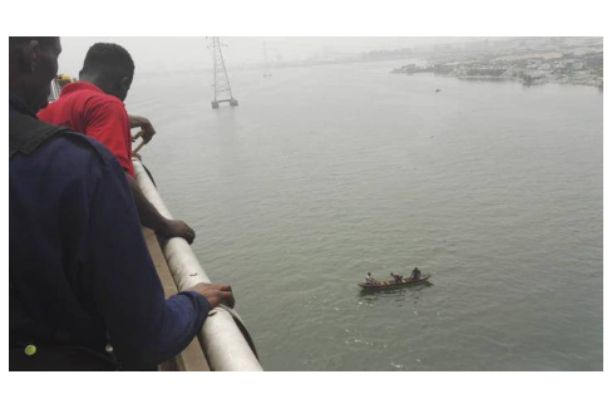 The young man who jumped off the Third Mainland bridge has been identified
