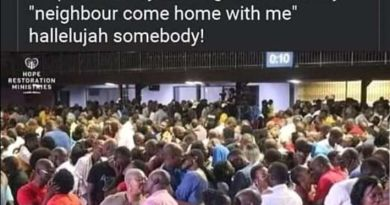 Pastor order Church members to kiss their neighbour during service (photos)