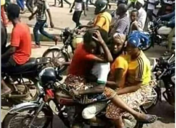Three Women Spotted on The Same Bike, Do You Think The Woman In Front Should The Bike Man