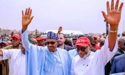 Buhari visits Ondo State to Commissions Ondo-Linyi Industrial Hub, Ore Flyover Interchange (Photos)