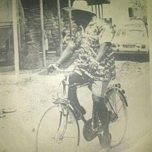 Olusegun Obasanjo spotted in his old photos ridden Bicycle