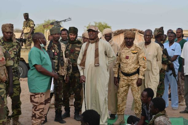 Chad's President, Idriss Deby pay visit to the injured soldiers in Baga-Sola (Photos)