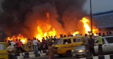 BREAKING: Fire Guts NNPC petrol station in Ogba, Lagos