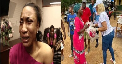 How I was stabbed by a hungry man during her giveaway - Tonto Dike