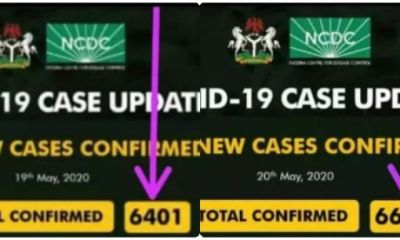 Once again Nigerians blast NCDC over miscalculation of daily COVID-19 confirmed cases in Nigeria (Screenshot)
