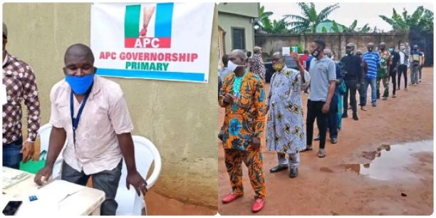 BREAKING: Ize-Iyamu Leads APC Governorship Primary in Edo