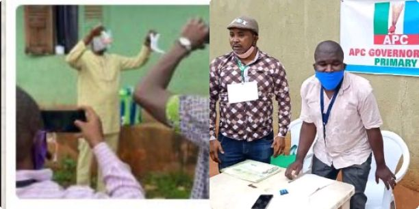 Just In: Osagie Ize-Iyamu casts his vote in ongoing Edo APC primaries