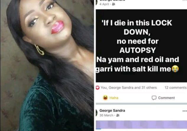 A 22-year-old lady shares touching story on Facebook before her death (Photos)